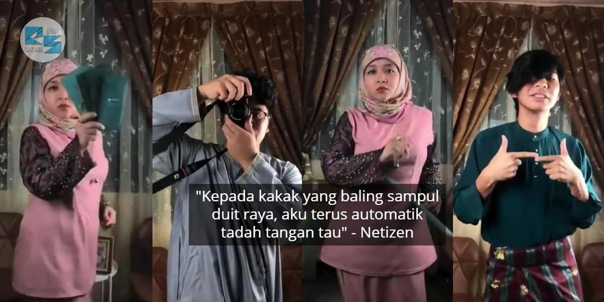 Persis GlamBOT Hollywood, Satu Family Viral Buat Video Slowmo Raya Tergempak